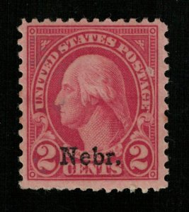 USA 1923-1929 George Washington, Overprinted Nebr. 2c (TS-357)