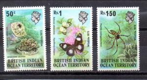 British Indian Ocean Territory 54-56 MNH