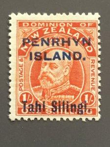 Penrhyn Is. 16 F MH. Scott $ 50.00