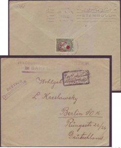 Saffed Palestine to Germany via Turkey RABBI PODHORZER - Ottoman Censor Judaica