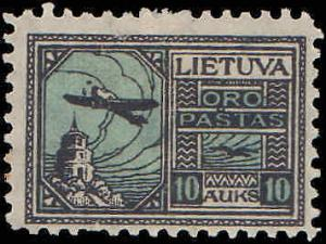 1922 Lithuania #C18-C20, Complete Set(3), Hinged