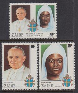 Zaire 1226-1228 MNH VF