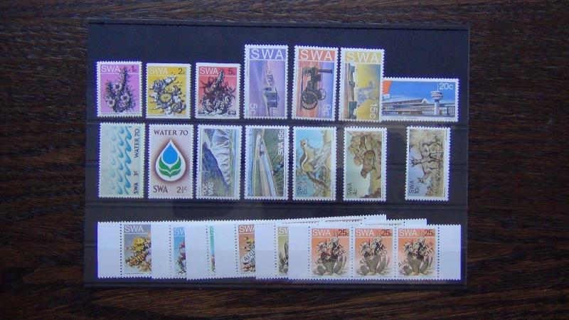 South West Africa 1970 1977 sets Water Suffrage Fauna Airport Monuments MNH