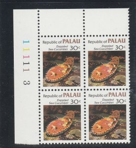 Palau  Scott#  16  MNH Block of 4  (1983 Dappled Sea Cucumber)
