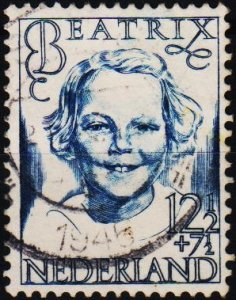 Netherlands. 1946 12 1/2+7 1/2c. S.G.630 Fine Used