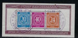Germany AM Post Scott # B294, s/s, special cancel, exp. h/s