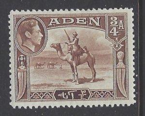 Aden, Scott #17; 3/4a King George VI, MH
