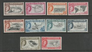 Ascension 1956 Defs short set to 1/- VFU SG 57/66