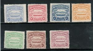 Solomon Islands #1 - #7 Mint Fine Full Original Gum Hinged Set
