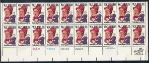 US #1803  $0.15 W C Fields  PB of 20 (MNH) CV $6.75