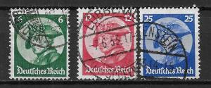 Germany 398-400 Frederick the Great set Used (z8)