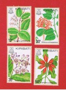 Kiribati #365-368 MNH OG  Flowers   Free S/H
