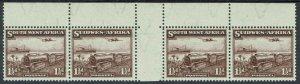 SOUTH WEST AFRICA 1937 TRAIN 11/2D MNH ** GUTTER STRIP