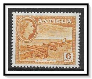 Antigua #113 QE II & Fort James MH