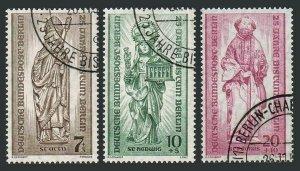 Germany-Berlin 9NB14-B16,CTO.Michel 132-134. Bishopric in Berlin,25th Ann.1955.