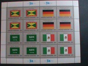 UNITED NATION-1985 SC#450-453  U. N. FLAGS SERIES MNH FULL SHEET- VERY FINE