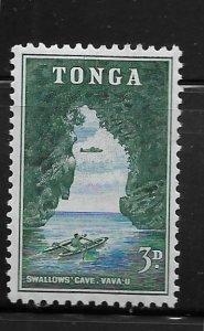 TONGA, 103, MINT HINGED, SWALLOWS CAVE