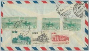 81694 - PERU - POSTAL HISTORY - Registered AIRMAIL  COVER to ITALY  1957