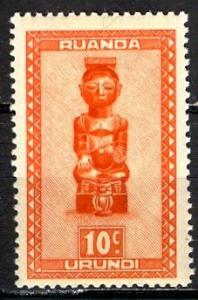 Ruanda Urundi 1948; Sc. # 90; **/MNH Single Stamp