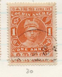 Indian States Cochin 1911-23 Early Issue Fine Used 1a. 198794