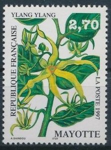 Mayotte 1997 #85 MNH. Flower