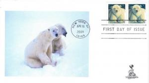 Polar Bear FDC, #4, from Toad Hall Covers!