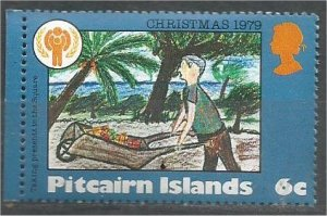 PITCAIRN ISLANDS, 1979, MNH 6c, Christmas and IYC Scott 188