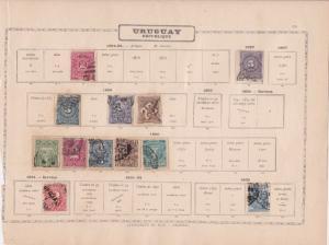 uruguay stamps  ref 13144