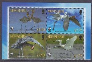 2010 Montserrat 1524-1527VB WWF / Birds 7,00 €