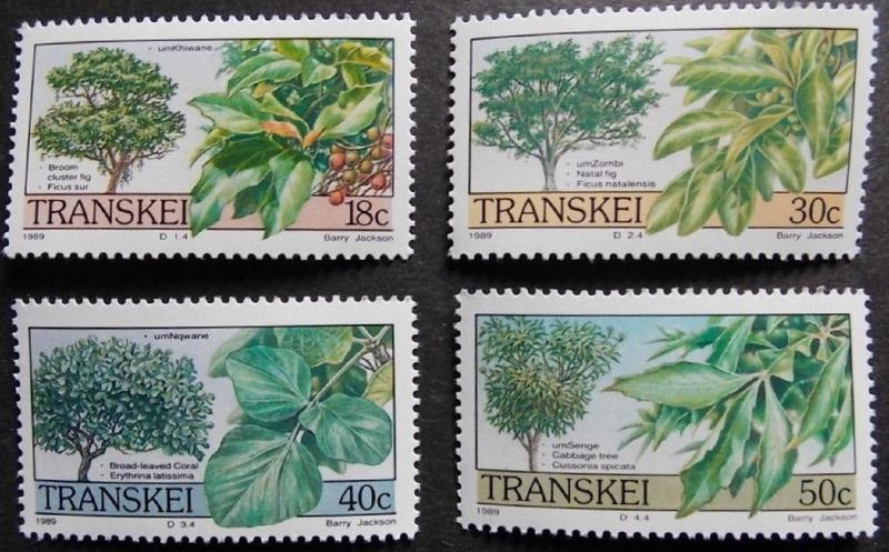 1989 Tree MNH Stamps from South Africa (Transkei)