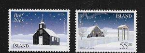 ICELAND, 954-955, MNH, CHRISTMAS