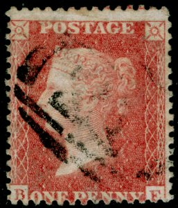 SG38, 1d pale red PLATE 59, LC14, USED. Cat £35.