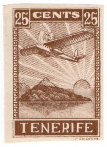 (I.B) Spain Postal : Tenerife 25c (colour trial)