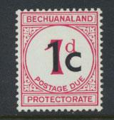 Bechuanaland Postage Due SG D7a Type II  larger 1c  Mounted Mint