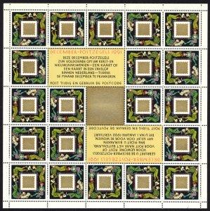 Netherlands 1991 Scott #803 Mini-sheet of 20 Mint Never Hinged