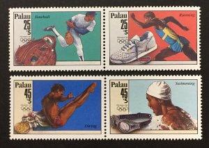 Palau 1988 #B2a, B4a Pairs, Olympics, MNH.