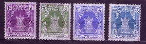 J23703 JLstamps 1952-3 burma hv,s of set #132-5 royal throne type