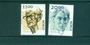 Norway - Sc# - 1336-7. 2002 Authors. MNH $8.50.