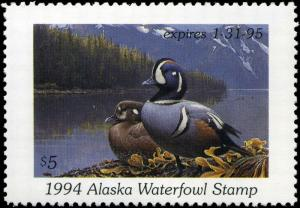 ALASKA #10 1994 STATE DUCK AMERICAN WIDGEON by George Lockwood