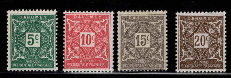 Dahomey Scott J9-12 MH* postage due short set 4/8 1914