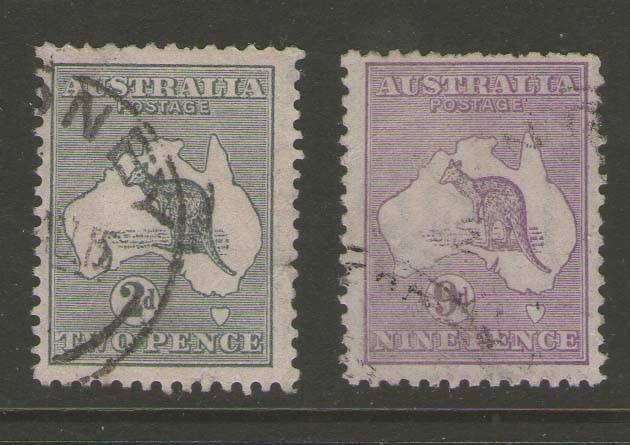 Australia kangaroos 1915 SG 24,39 FU #c477.1