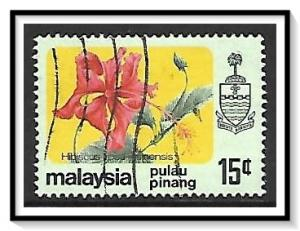 Penang #85a State Crest & Flowers Used