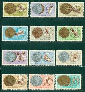 R4-0010 HUNGARY 1647-58 MNH OLYMPICS SCV $3.70 BIN $2.00 (26)