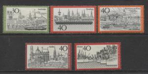 GERMANY. -Scott 1106-110- Town Types - 1973- MNH - Set of 5 Stamps
