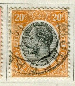 TANGANYIKA; 1927 early GV Head issue fine used 20c. value
