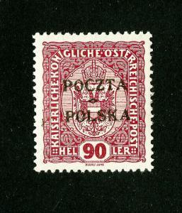 Poland Stamps # 50 Superb OG LH signed Scott Value $1,200.00
