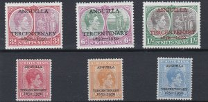 ST KITTS  1950  S G 86 - 91    TERCENTENARY SET   MH