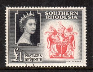Southern Rhodesia 1953 £1 SG91 good used WS18398