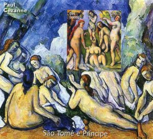 Sao Tome & Principe 2005 PAUL CEZANNE Nudes Paintings s/s Imperforated Mint (NH)