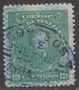 VENEZUELA 295 VFU BOLIVAR N552-5